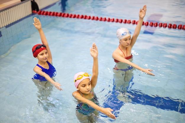 Aqua aerobics in pool