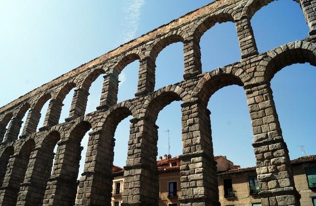 Aqueduct of segovia in segovia, spain
