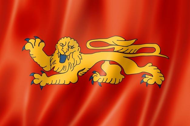Aquitaine region flag, france