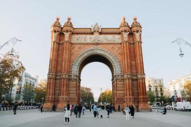 バルセロナのar旋門と呼ばれる有名な記念碑