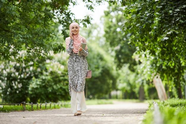 Arab businesswoman in silk hijab