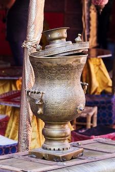Arab old brass kettle