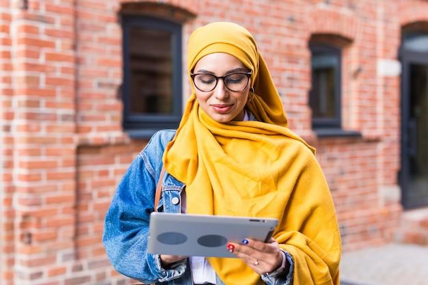 Arab woman student.