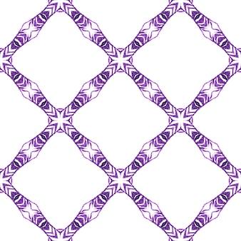 アラベスク手描きデザイン。紫の劇的な自由奔放に生きるシックな夏のデザイン。テキスタイル対応の優雅なプリント、水着生地、壁紙、ラッピング。東洋のアラベスク手描きの境界線。