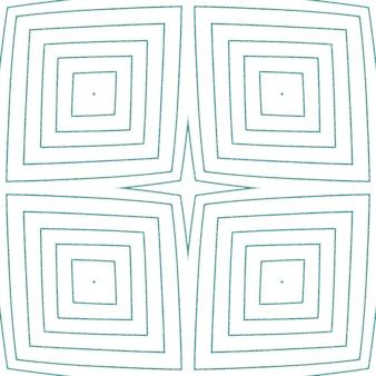 아라베스크 손으로 그린 패턴. 청록색 대칭 만화경 배경입니다. 오리엔탈 아라베스크 손으로 그린 디자인. 직물 준비 장엄한 인쇄, 수영복 직물, 벽지, 포장.