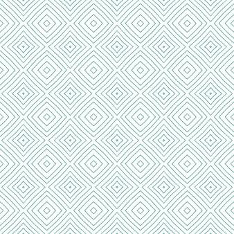 아라베스크 손으로 그린 패턴. 청록색 대칭 만화경 배경입니다. 섬유 준비가 눈에 띄게 인쇄, 수영복 직물, 벽지, 포장. 오리엔탈 아라베스크 손으로 그린 디자인.