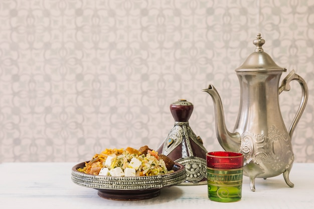 Arabian food composition for ramadan