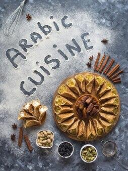 アラビア料理の碑文とアラビア料理の背景