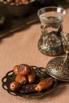 Arabic food for ramadan with dates