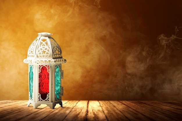 Arabic lamp with colorful light