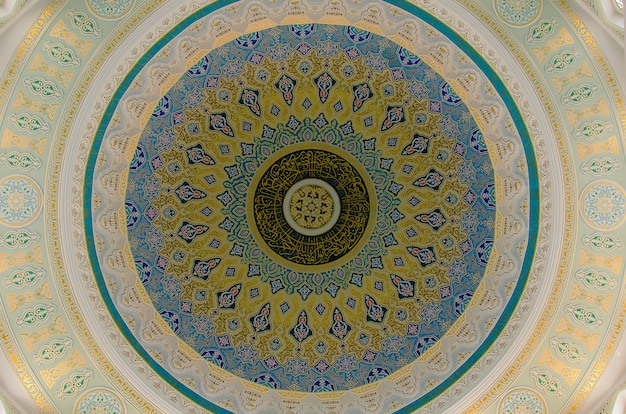 Arabic pattern on a dome of a mosque
