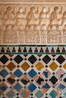 Arabic patterns on the wall
