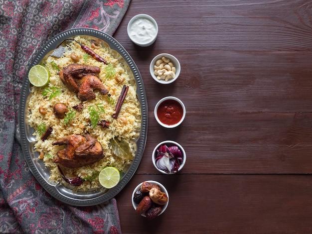Kuzhimandi Biriyani - Arabian Chicken Mandi Recipe