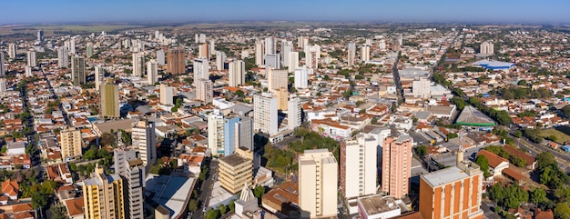 Aracatuba, state of sao paulo, brazil. panoramic aerial view.