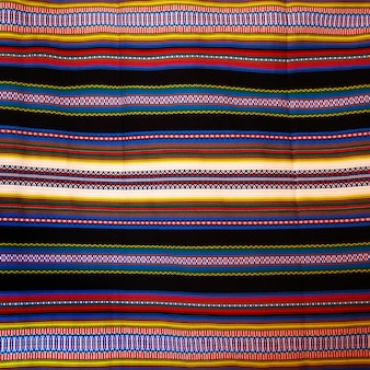 Aragon typical blanket with stripes arab heritage