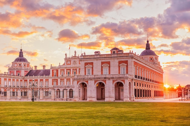 Aranjuez royal palace a beautiful city in spain to travel and tourism the residence of the king of spain in the madrid region.