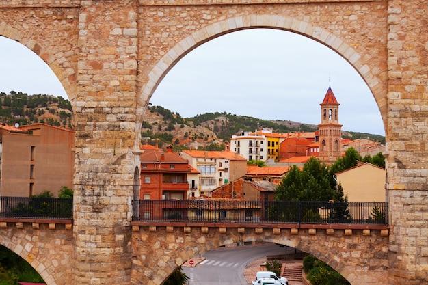 Arch of aqueduct in teruel