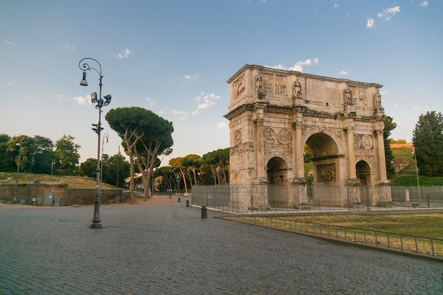 Arch of constantine  a dusk view of south side of constantines arch