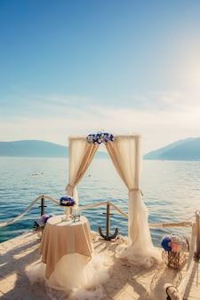 結婚式のアーチ