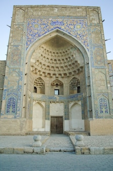 Arch in the form of a dome, subject to restoration. the ancient buildings of medieval asia