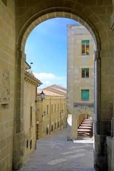 Arch in republic of san marino.  italy, europe