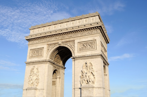 Arch of triumph with sky