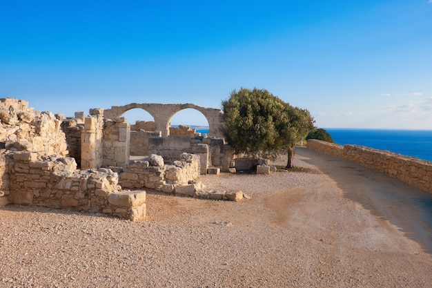 Archaeological remains of kourion in cyprus