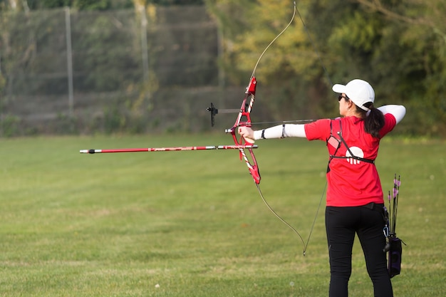 Archery outdoors determination athletic training