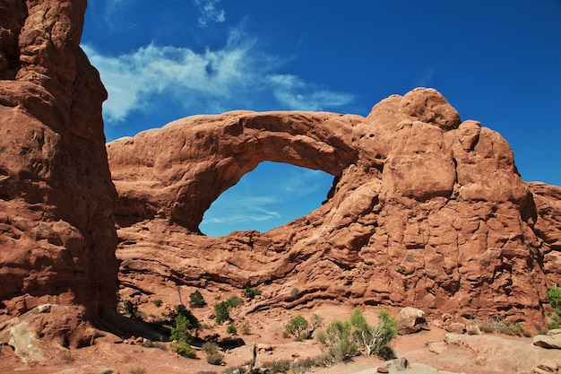 Arches valley in utah, usa