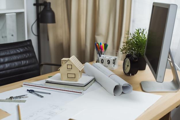 建築家設計プロジェクトの青写真計画の概念