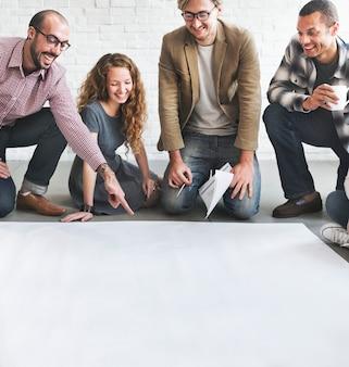 Architect designteam discussion ideas concept