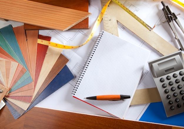 Architect desk er workplace spiral notebook