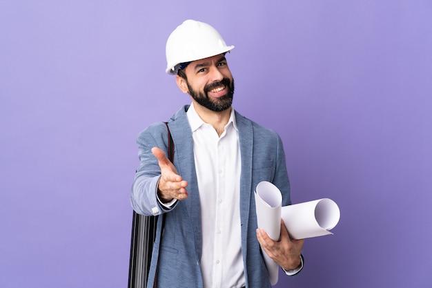 Architect man posing