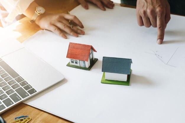 Architect team brainstorming planning design