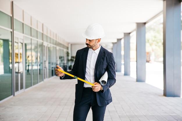 Architect with helmet