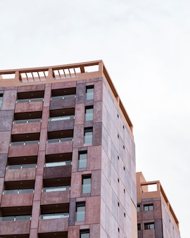 복사 공간 도시에서 건축 아파트 건물