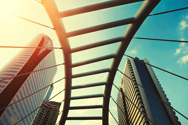 都市の建築橋バンコク