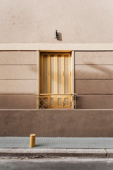 Architectural building door in the city