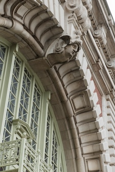 Architectural detail of a building, ellis island, jersey city, new york state, usa