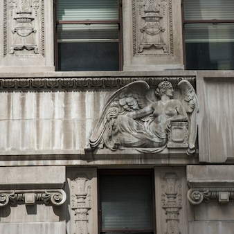 Architectural detail of a building, manhattan, new york city, new york state, usa