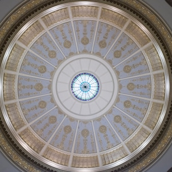Architectural detail of a ceiling, southern methodist university, dallas, texas, usa
