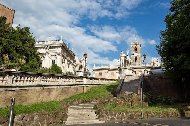캄 피돌 리오 광장 로마 이탈리아 유럽의 건축 세부 사항