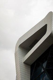 Architectural details modern facade building. futuristic design