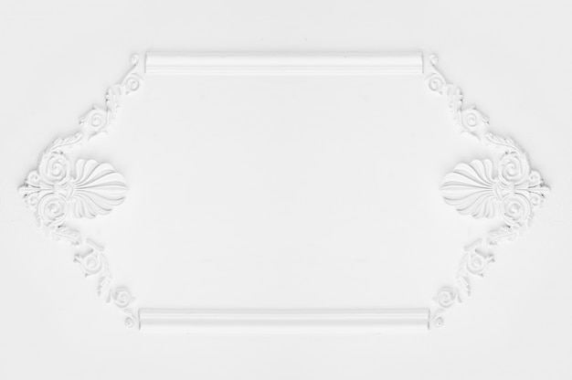 Architectural luxury white wall design with mouldings