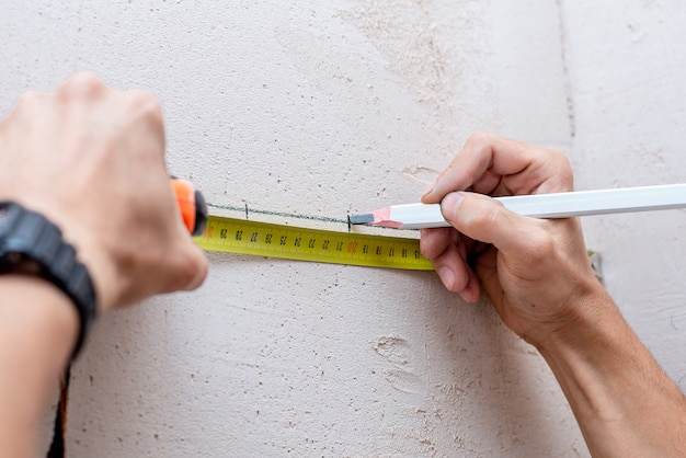 建築用鉛筆マーク
