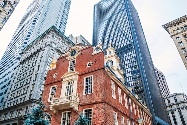 Architecture buildins in city of boston downtown
