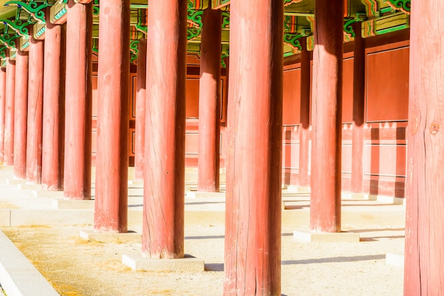 Architecture in changdeokgung palace in seoul city at korea