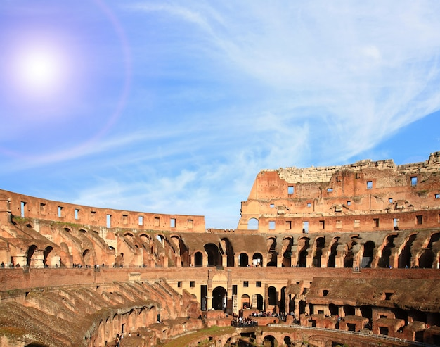 Architecture of colosseum rome