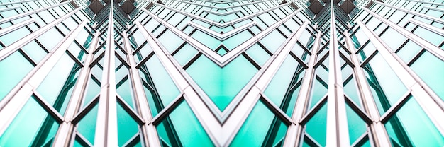 Architecture details modern building glass facade business background