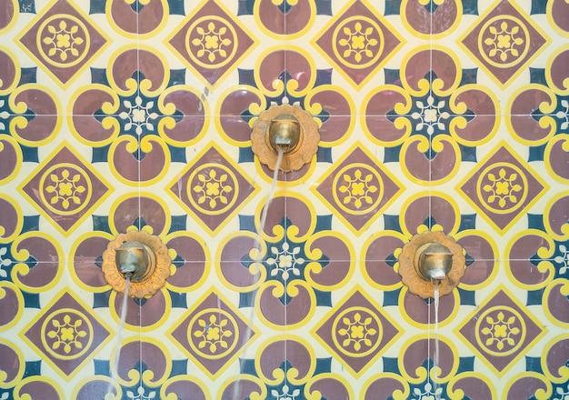 Architettura fontana decorazione stile marocchino